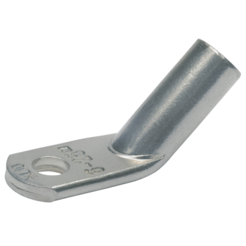 Angled compression cable lugs, Cu, 45° offset