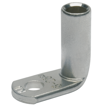 Angled compression cable lugs, Cu, 90° offset
