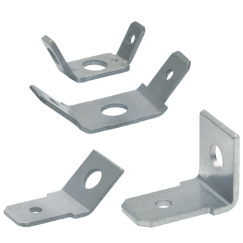 Non-insulated tabs, angled version