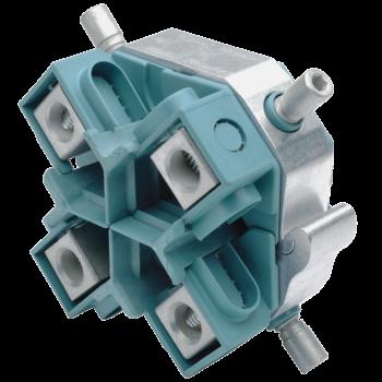 Kabelabzweig-Schraubklemmringe mit Abreißschraube, Vierleiterkabel