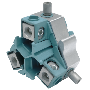 Compact tap connectors with shear heads, three conductor cables