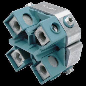Kabelabzweig-Schraubklemmringe, Vierleiterkabel, für Hauptleiter 25 - 50 mm²
