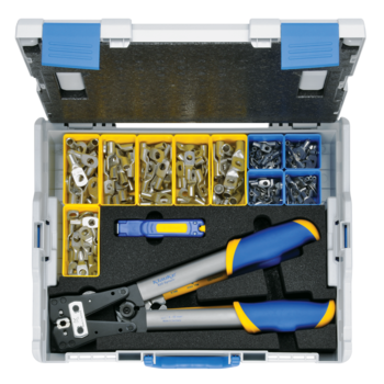 L-BOXX 65B from plastic with standard equipment for electrical installations