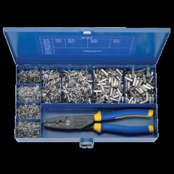 SK 32 B Sortimentskasten aus Stahl mit Aderendhülsen und Presswerkzeug