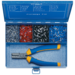 Steel assortment box with insl. cable end-sleeves and crimping tool
