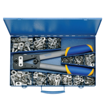 SK 50 B Steel assortment box with DIN compressed cable lugs and crimping tool