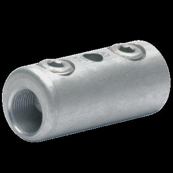 Schraubverbinder mit 2 Schrauben, mit Gewindestift, blank