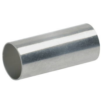 Sleeves for compacted conductors, for tubular cable lugs and connector DIN type