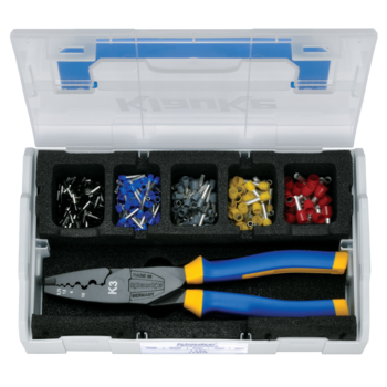 L-BOXX Mini from plastic with crimping tool and insl. cable end-sleeves 1.5-10 mm²