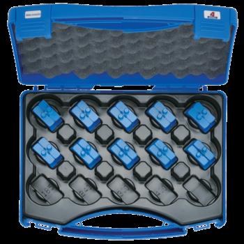 Crimping die set 6-150 mm², blue connection® HB 4 in plastic case, 11-pce.