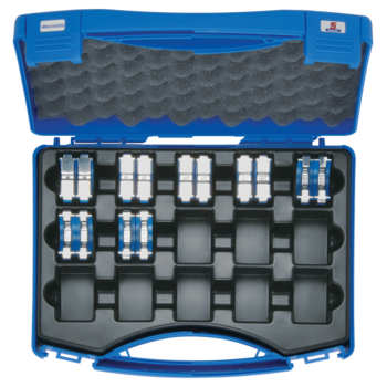 Crimping die set 6-185 mm², blue connection® HB 5 in plastic case, 8-pce.