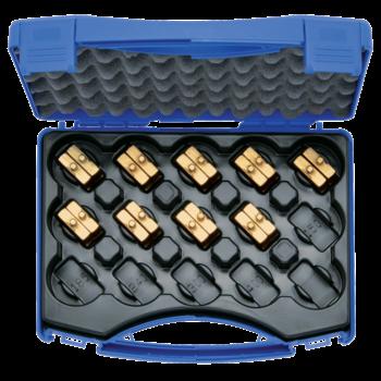 Crimping die set, 6-120 mm² HD 4 in plastic case, 10-pce.
