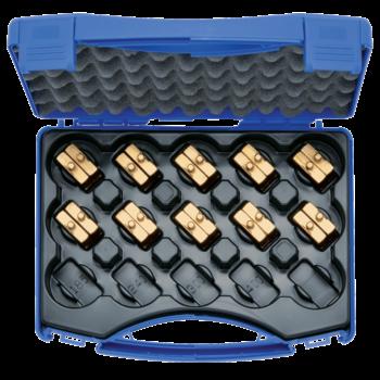 Crimping die set, 6-150 mm² HR 4 in plastic case, 11-pce.