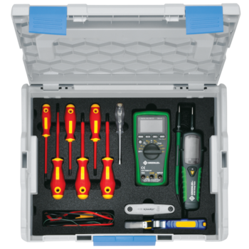 L-BOXX with basic equipment for electricians, 18-piece