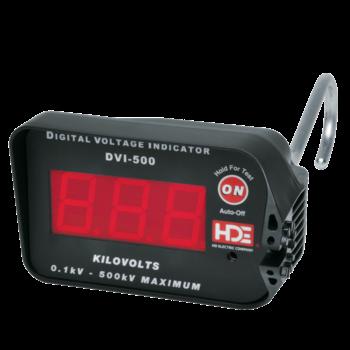 Digital voltage display sets to 100 kV or 500 kV