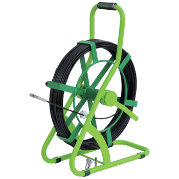 Smart Butler fibreglass cable pulling-in system with steel reel basket