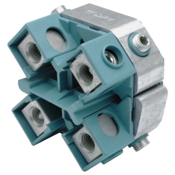 Kabelabzweig-Schraubklemmringe mit Abreißschraube, Vierleiterkabel, für Hauptleiter 25-50 mm